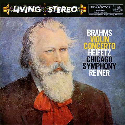 Brahms - Violin Concerto - Heifetz - Reiner - Chicago Symphony Orchestra on Limited Edition 200g LP - direct audio