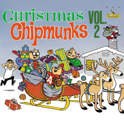 The Chipmunks - Christmas with the Chipmunks Vol. 2 Colored Vinyl LP