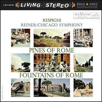 Respighi - Pines Of Rome - Fountains Of Rome - Reiner - Chicago Symphony Orchestra on 200g LP - direct audio