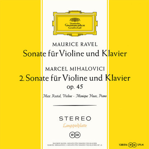 Ravel And Mihalovici - Sonata for Violin and Piano 180g Import Vinyl LP - direct audio