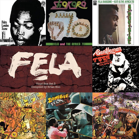Fela Kuti - Vinyl Box Set 3 Compiled By Brian Eno on Limited Edition 180g 7LP Box Set - direct audio