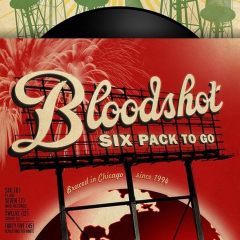 "A Bloodshot Six Pack To Go - Various Artists on Limited Edition 6 x 7"" Vinyl Box Set - direct audio"