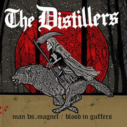 "The Distillers - Man Vs. Magnet / Blood in Gutters Vinyl 7"" - direct audio"