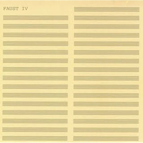 Faust - Faust IV on 180g Vinyl LP - direct audio