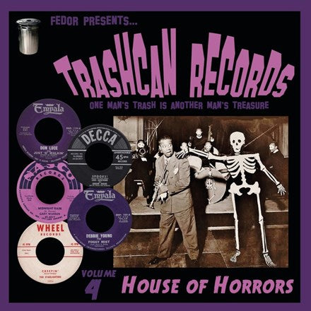 "Trashcan Records, Volume 4: House Of Horrors - Various Artists 10"" Vinyl EP - direct audio"
