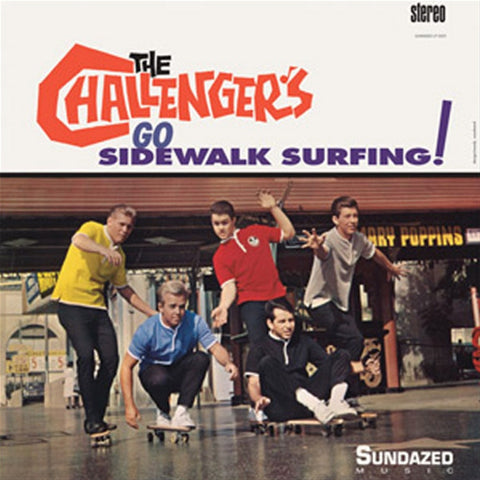 The Challengers - Go Sidewalk Surfing! on Limited Edition Red Yellow Split Vinyl LP - direct audio