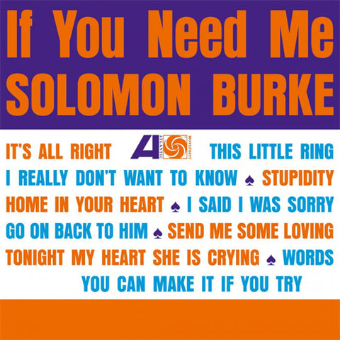 Solomon Burke - If You Need Me 180g Import Vinyl LP - direct audio