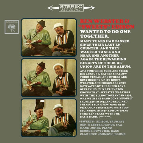 "Ben Webster And ""Sweets"" Edison - Ben Webster And ""Sweets"" Edison on 180g 45RPM 2LP - direct audio"