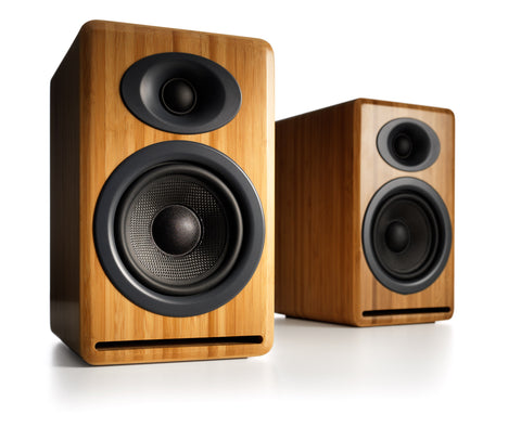 Audioengine P4 Passive Bookshelf Speakers, Bamboo - direct audio - 1