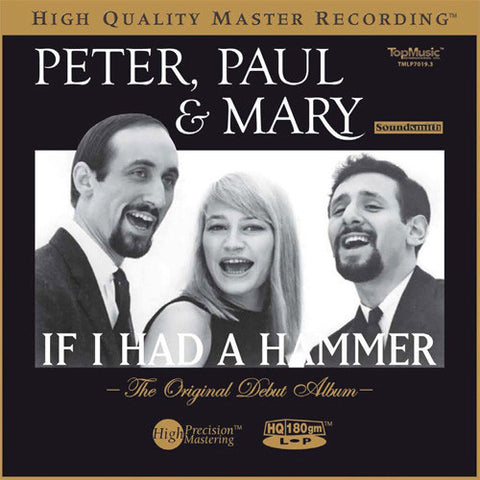 Peter, Paul And Mary - If I Had A Hammer: The Original Debut Album on Numbered Limited Edition Colored 180g Import LP - direct audio