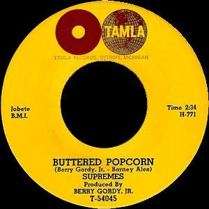 "The Supremes - Buttered Popcorn / Who's Loving You on 7"" Vinyl - direct audio"