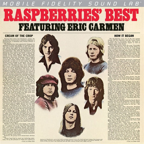 The Raspberries - Raspberries Best on Numbered Limited Edition Colored Vinyl LP from Mobile Fidelity Silver Label - direct audio