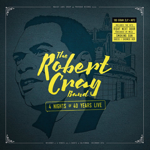 Robert Cray Band - 4 Nights Of 40 Years Live on 180g 2LP + Download - direct audio