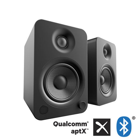Kanto YU4 Powered Bookshelf Speakers with Bluetooth Technology and Phono Amp