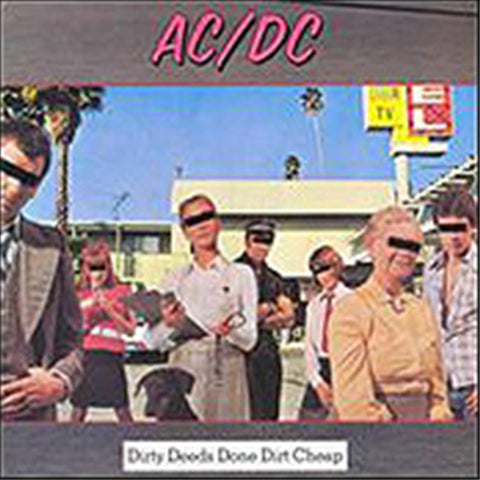 AC/DC - Dirty Deeds Done Dirt Cheap on LP - direct audio