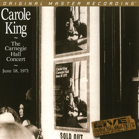 Carole King - The Carnegie Hall Concert: June 18, 1971 on Numbered Limited Edition 180g 2LP from Mobile Fidelity - direct audio