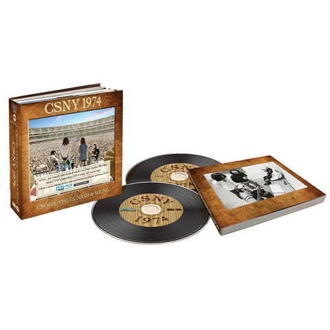 Crosby, Stills, Nash And Young - CSNY 1974 Blu-Ray Pure Audio Disc + DVD + 188-Page Booklet (Out Of Stock) Pre-order - direct audio