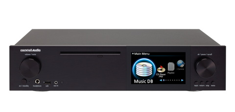 Cocktail Audio - X40 Black DSD HD Hi-Res Music Server/ CD Ripper/ 32bit DAC/ Streamer - direct audio - 1