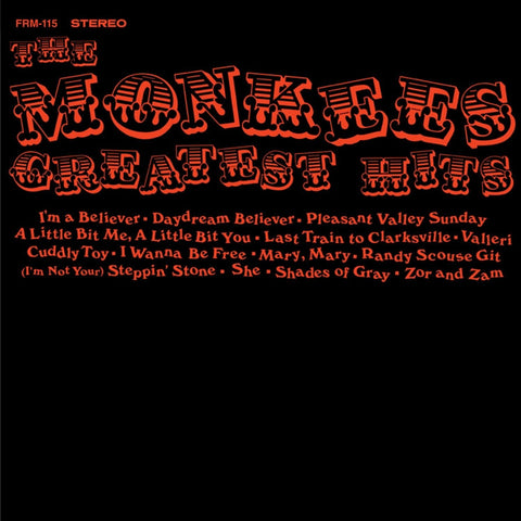 The Monkees - Greatest Hits on Limited Edition 180g LP - direct audio