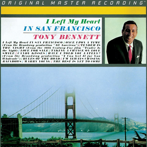 Tony Bennett - I Left My Heart In San Francisco on Numbered Limited Edition 180g LP from Mobile Fidelity - direct audio
