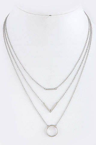 Geometric Ornate Layer Necklace
