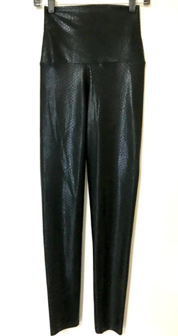 Black Snakeskin Leggings