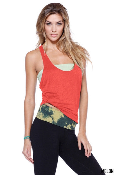 Coral Relaxed Racerback Tank Top