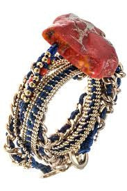 Wrap Chain Agate Stone Bracelet/Necklace