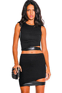 Black 2 Piece Crop Dress