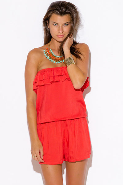 Summer Days Ruffle Pocketed Romper