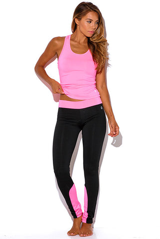 Hot Neone Pink Athletic Fitness Leggings