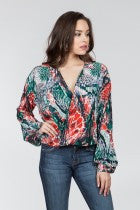 Ark & Co. Multi Color Twisted Long Sleeve Top