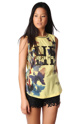 Yellow Right Here Sleeveless Tank Tee