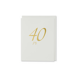 Gold Forty Birthday Card