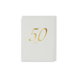 Gold Fifty Birthday Card