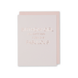 Rose Gold Birthday Card