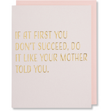 Mother's Day Card, Happy Mom's Day Card