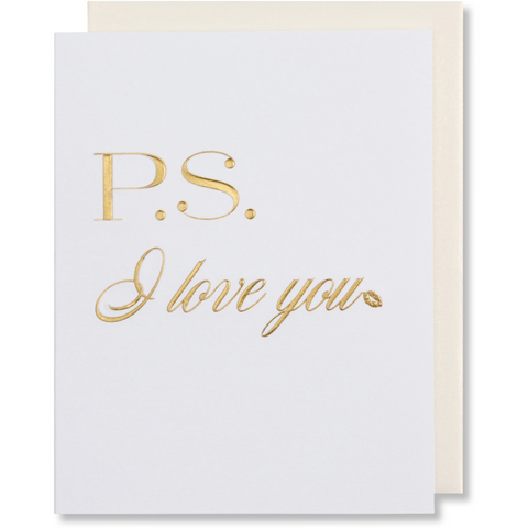P.S. I Love You Greeting Card