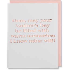 Mother's Day Card, Happy Moms Day Card