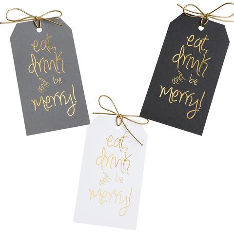 Eat Drink and Be Merry Gift Tags