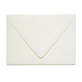 Natural White Cotton Envelope with a Contour Flap
