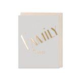 Gold Family Greeting Card