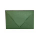 Green metallic envelope with a contour flap.
