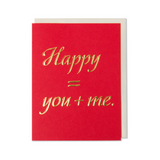 Happy = You + Me. Anniversary, Love, Valentine's Day Card