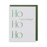 Ho Ho Ho Happy Holidays Green Card