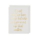 Gold Life Quote Cards