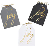 Joy Gold Foil Tags