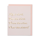 Rose Gold Life is Short Card