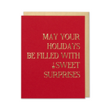 May Your Holiday Be Filled With Sweet Surprises Holiday Card