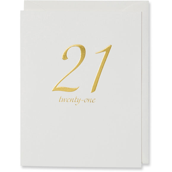 Twenty-One Birthday Card